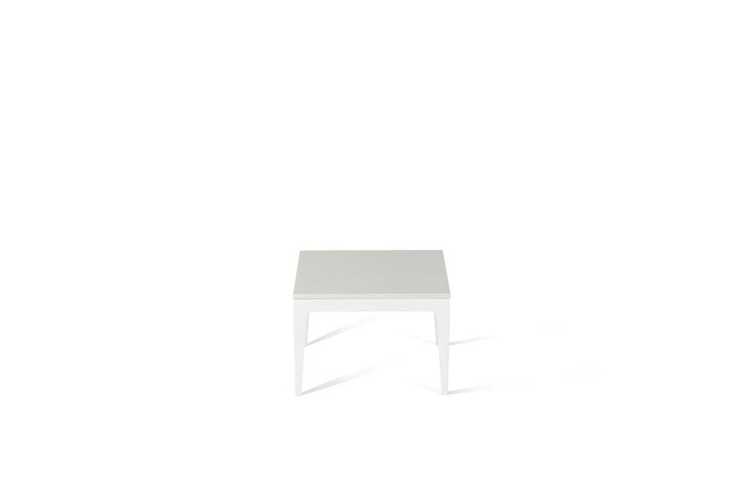 Snow Cube Side Table Pearl White