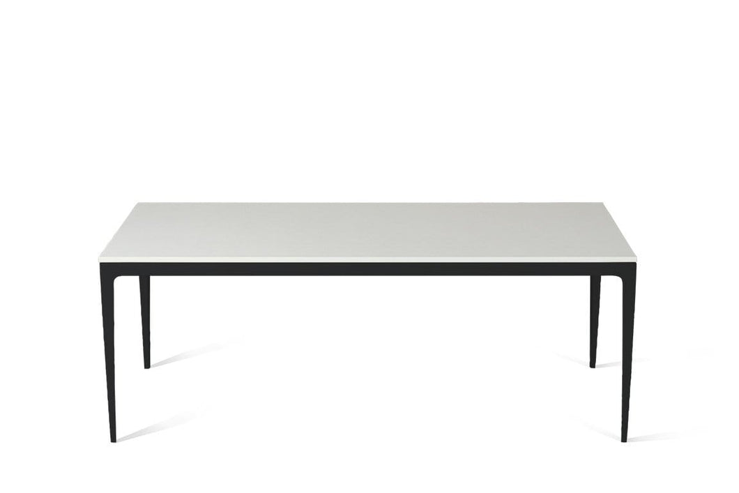Snow Long Dining Table Matte Black