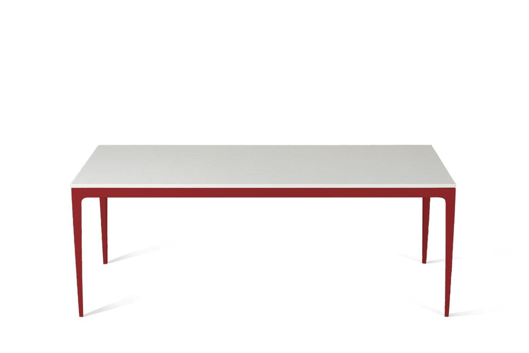 Snow Long Dining Table Flame Red