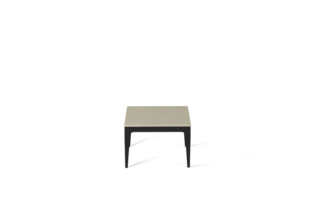 Linen Cube Side Table Matte Black