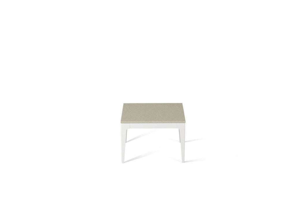 Linen Cube Side Table Oyster