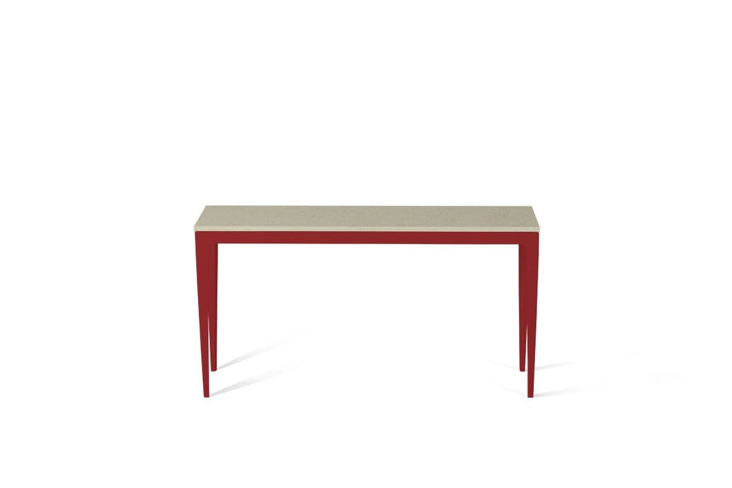 Linen Slim Console Table Flame Red