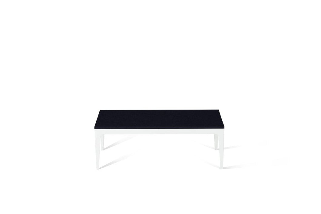 Jet Black Coffee Table Pearl White