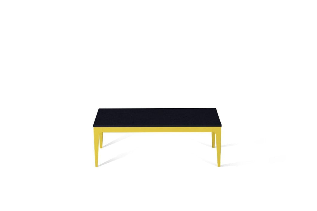 Jet Black Coffee Table Lemon Yellow