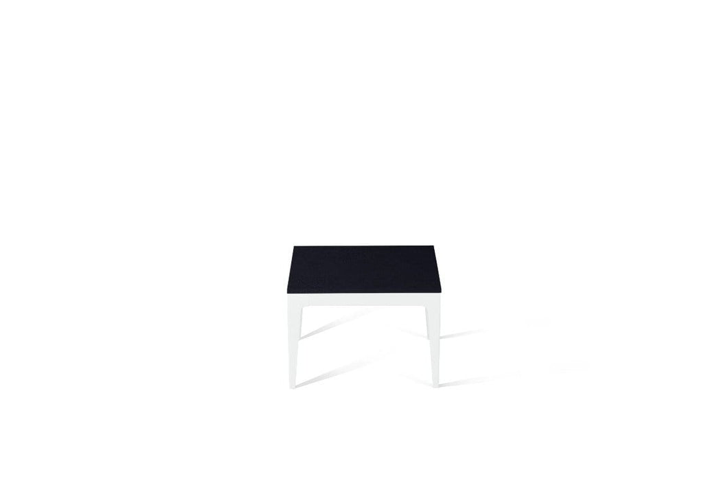 Jet Black Cube Side Table Pearl White