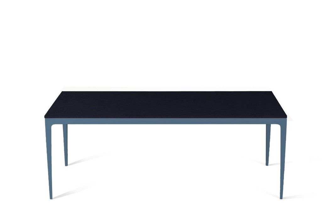 Jet Black Long Dining Table Wedgewood