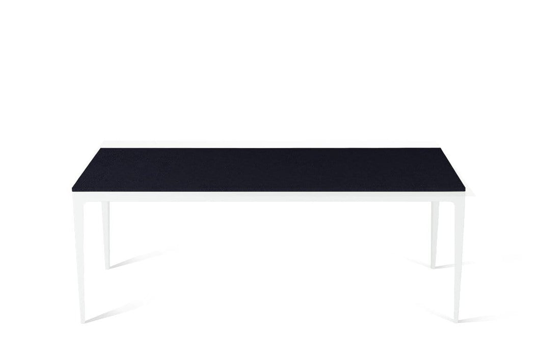Jet Black Long Dining Table Pearl White