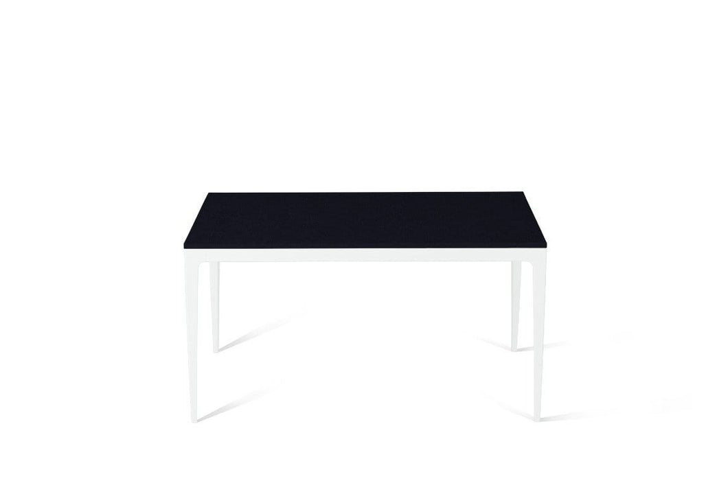Jet Black Standard Dining Table Pearl White
