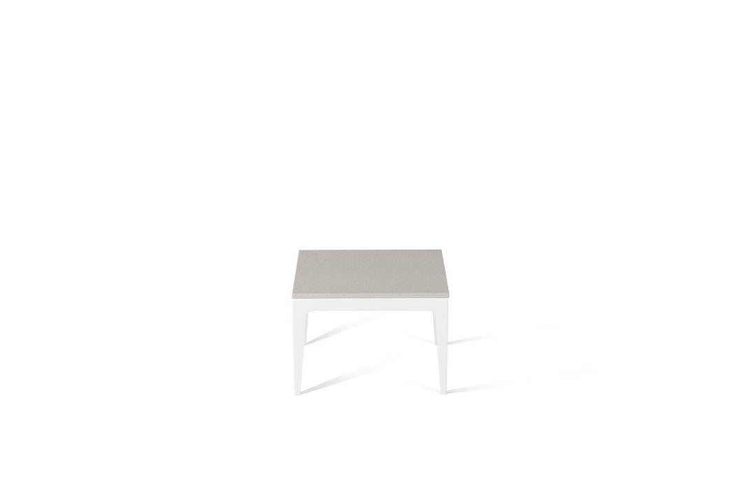 Osprey Cube Side Table Pearl White