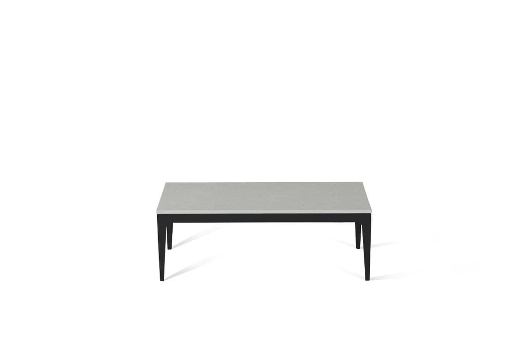 White Shimmer Coffee Table Matte Black