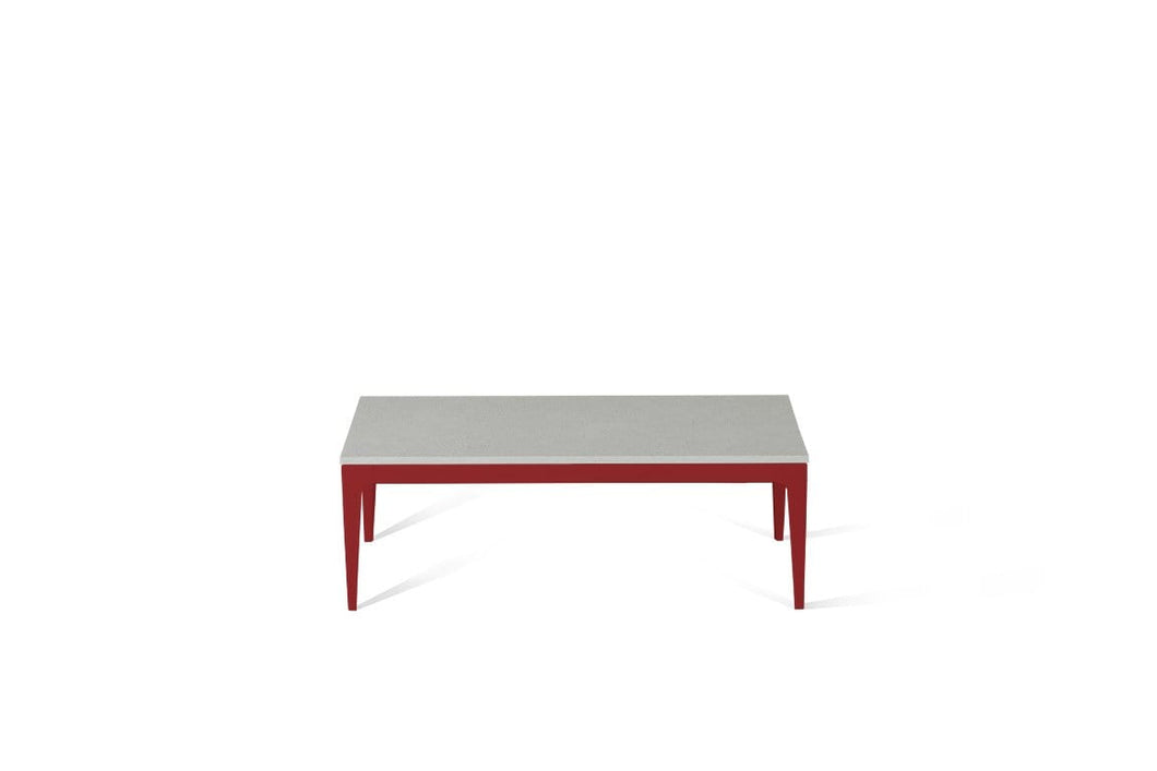 White Shimmer Coffee Table Flame Red