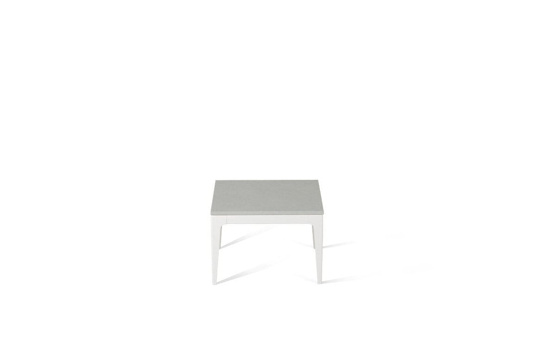White Shimmer Cube Side Table Oyster