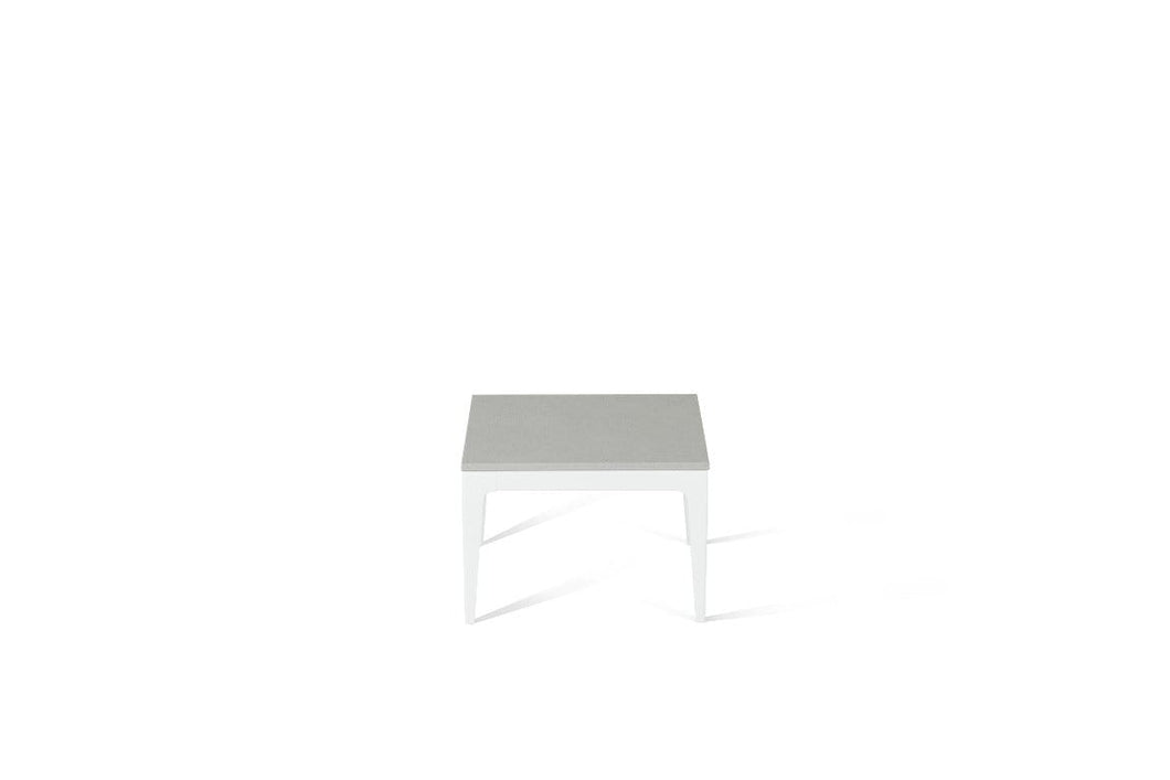 White Shimmer Cube Side Table Pearl White