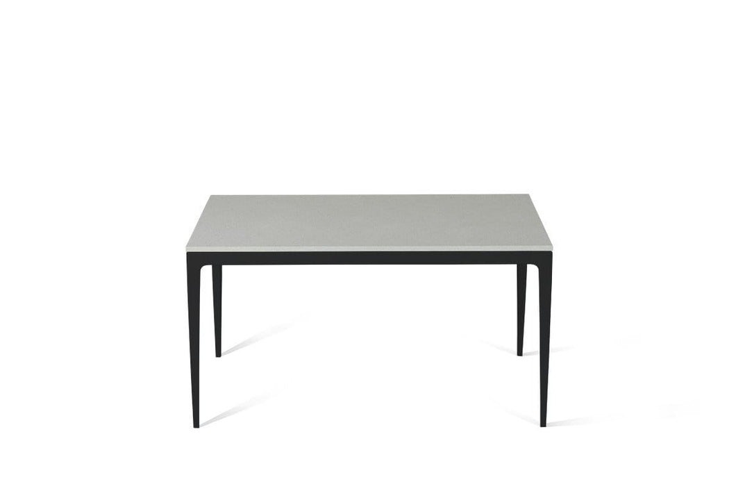 White Shimmer Standard Dining Table Matte Black