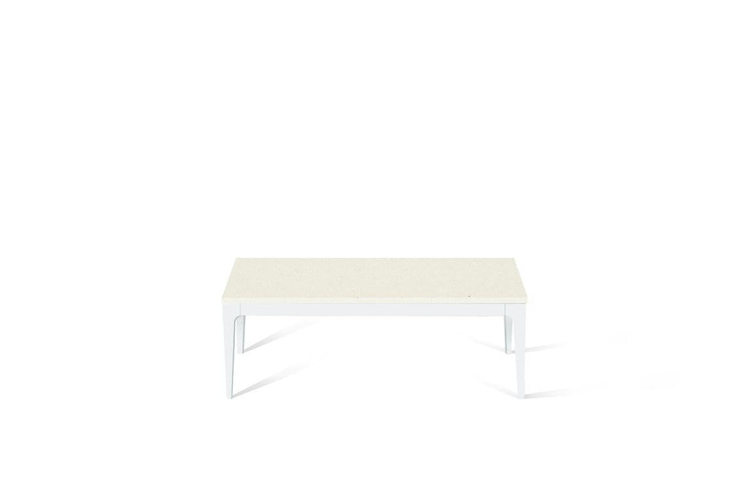 Fresh Concrete Coffee Table Pearl White