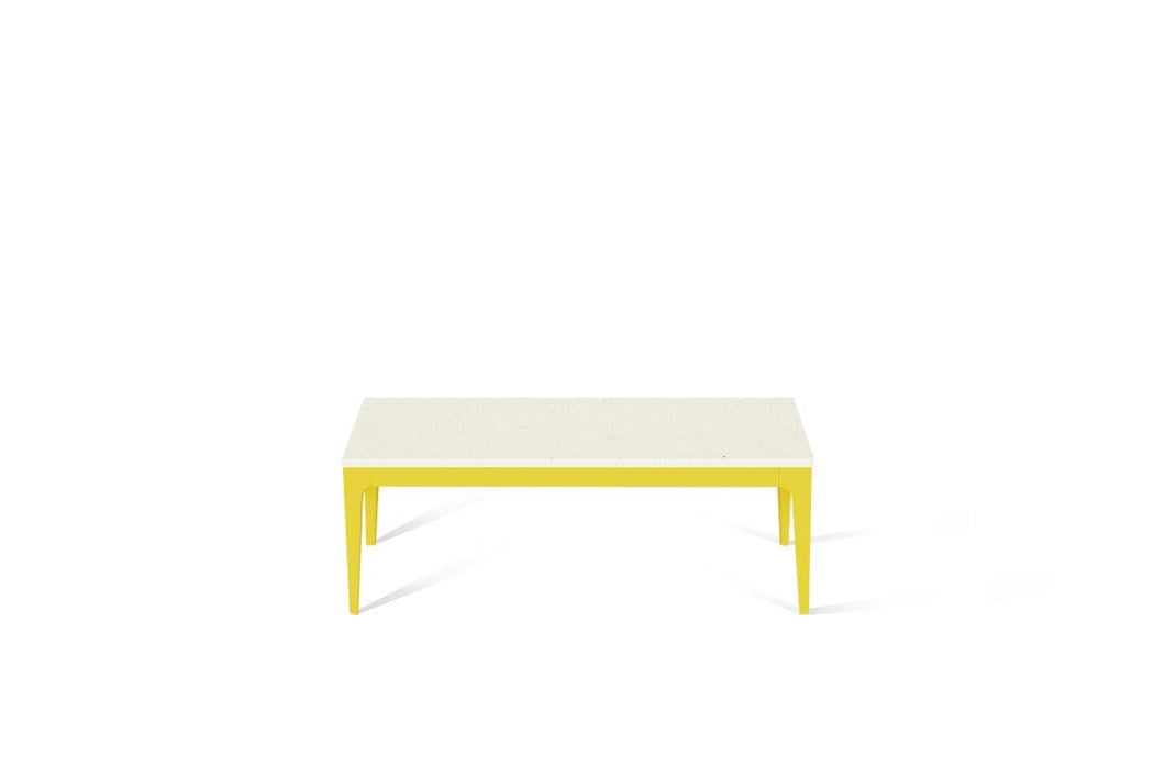 Fresh Concrete Coffee Table Lemon Yellow