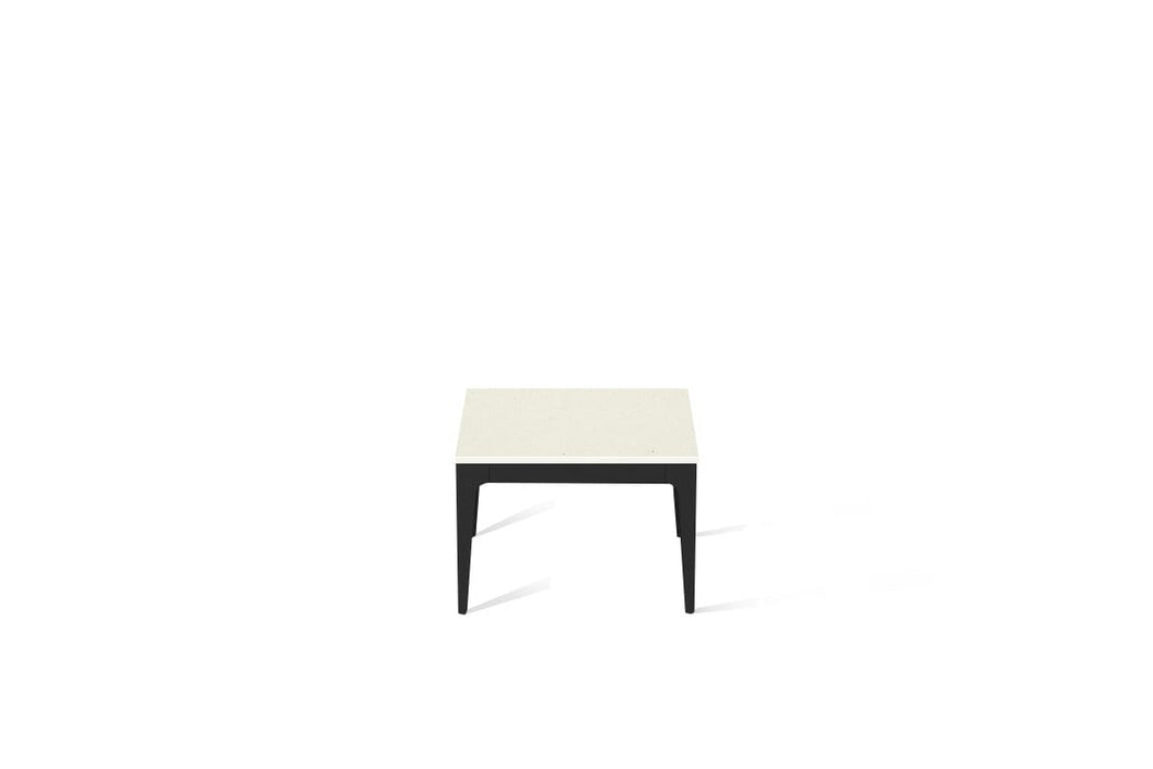 Fresh Concrete Cube Side Table Matte Black