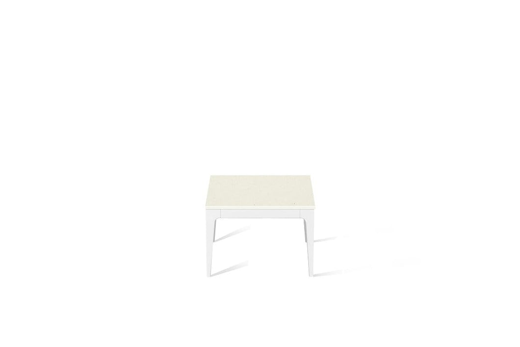 Fresh Concrete Cube Side Table Pearl White