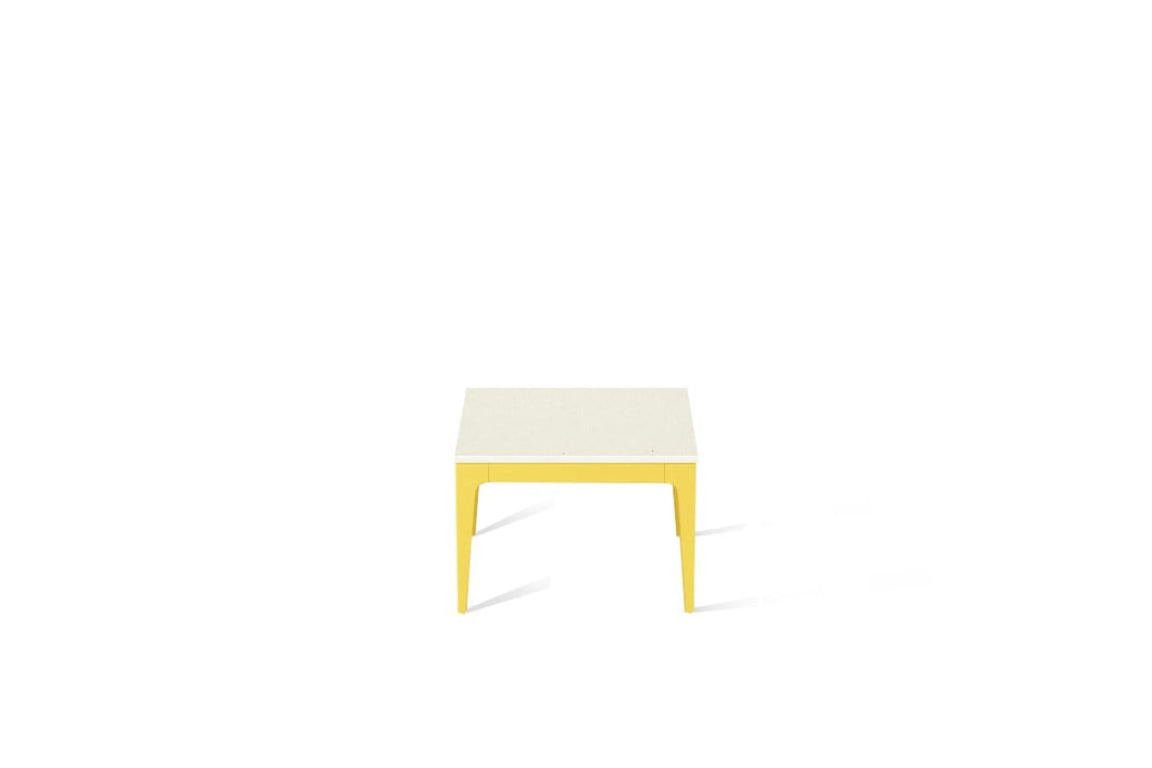 Fresh Concrete Cube Side Table Lemon Yellow