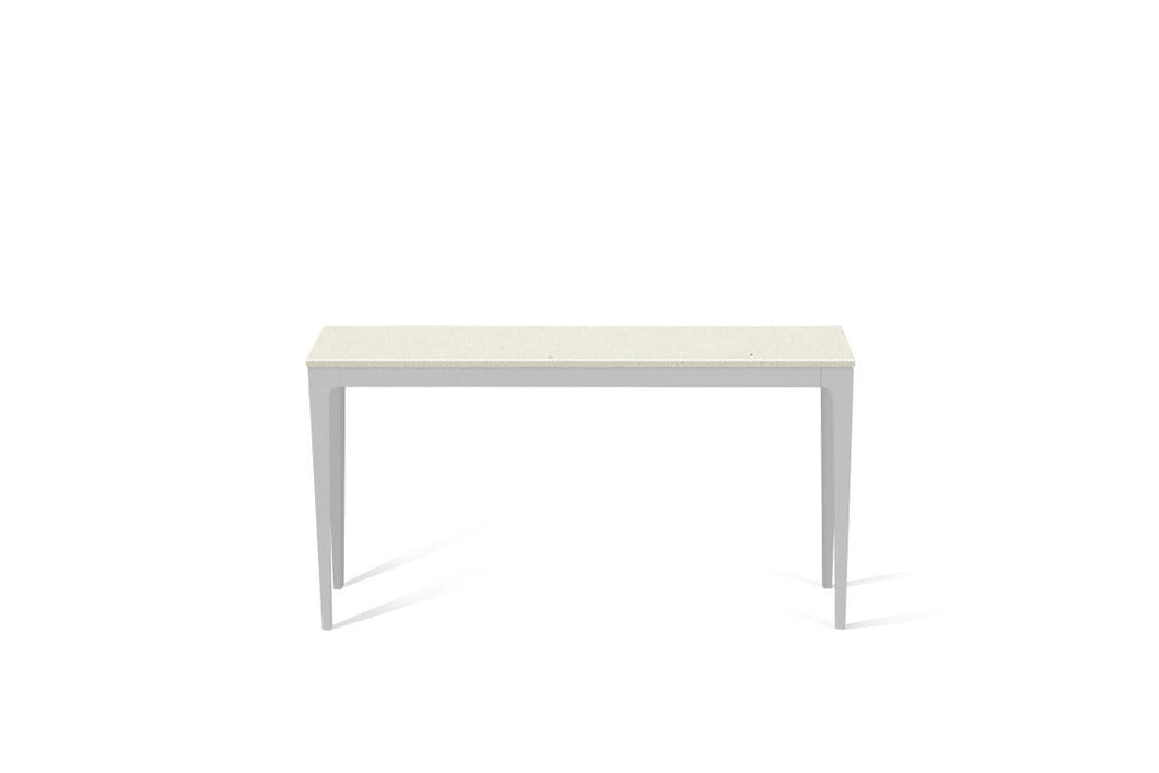 Fresh Concrete Slim Console Table Oyster