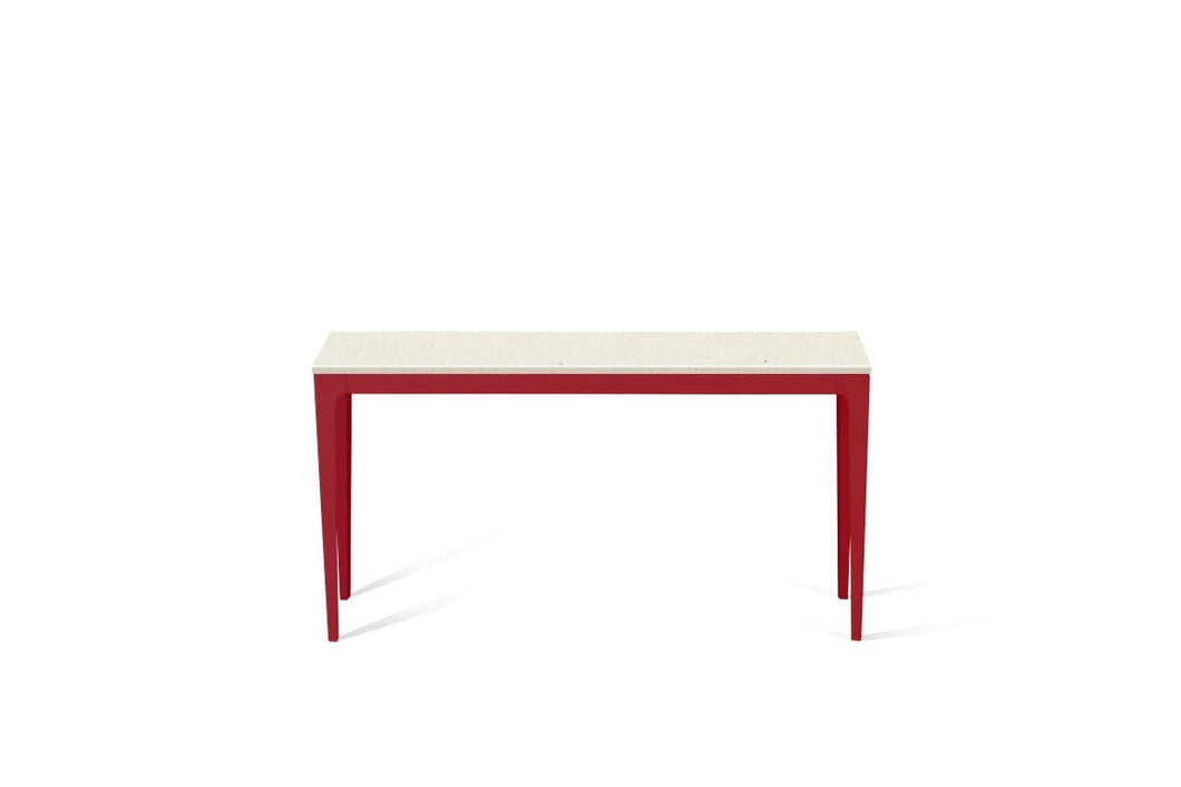 Fresh Concrete Slim Console Table Flame Red