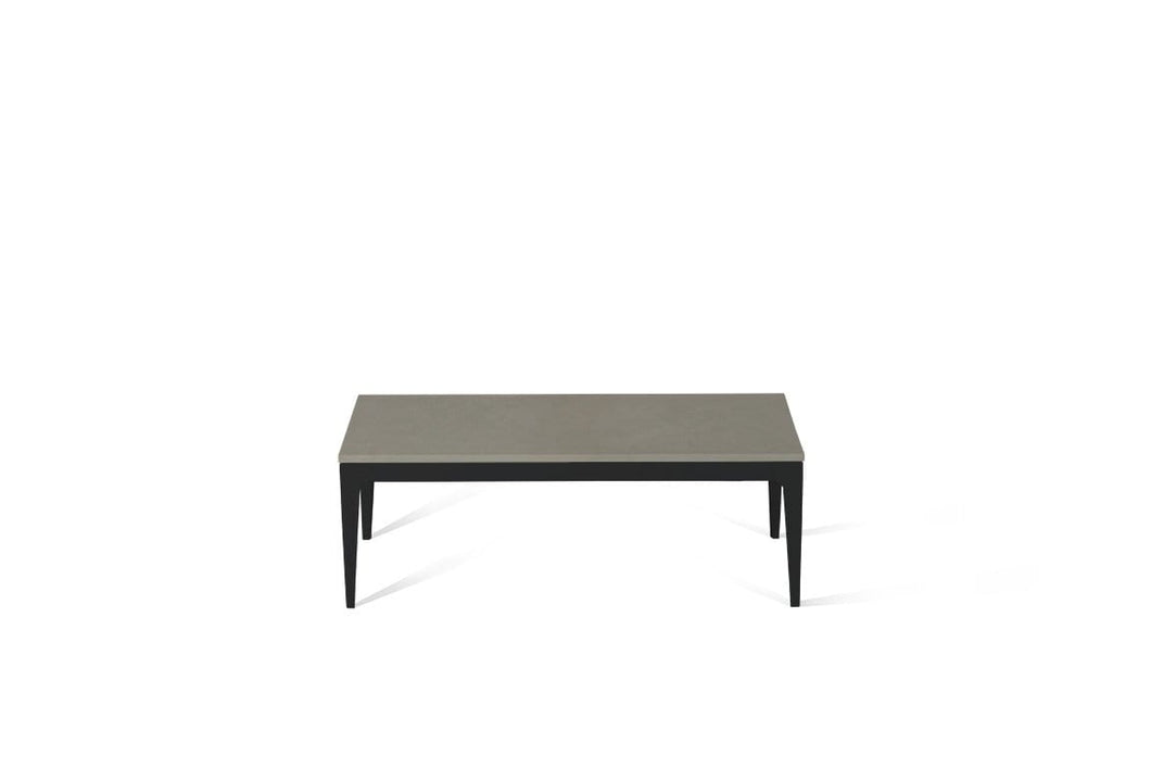 Sleek Concrete Coffee Table Matte Black