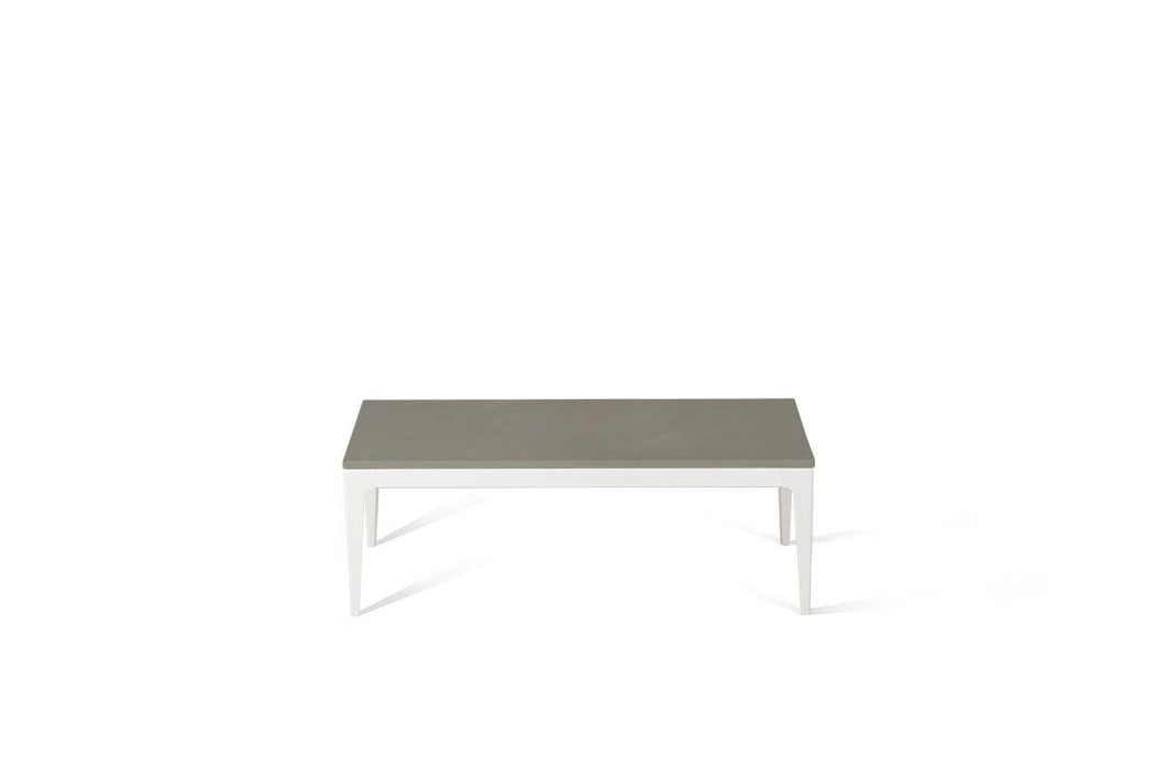 Sleek Concrete Coffee Table Oyster