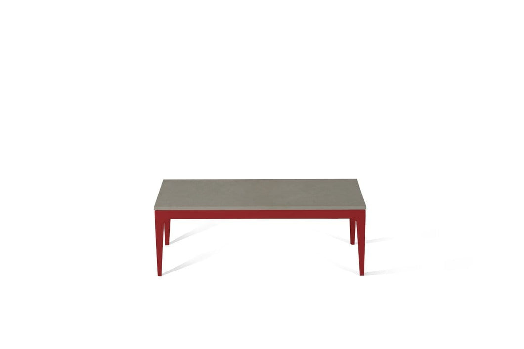 Sleek Concrete Coffee Table Flame Red