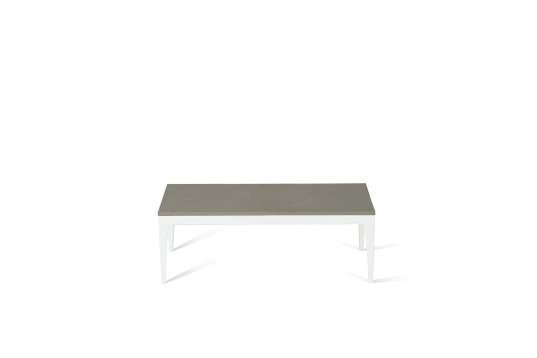 Sleek Concrete Coffee Table Pearl White