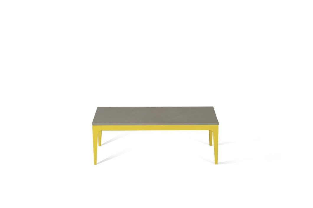 Sleek Concrete Coffee Table Lemon Yellow