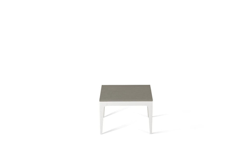 Sleek Concrete Cube Side Table Oyster