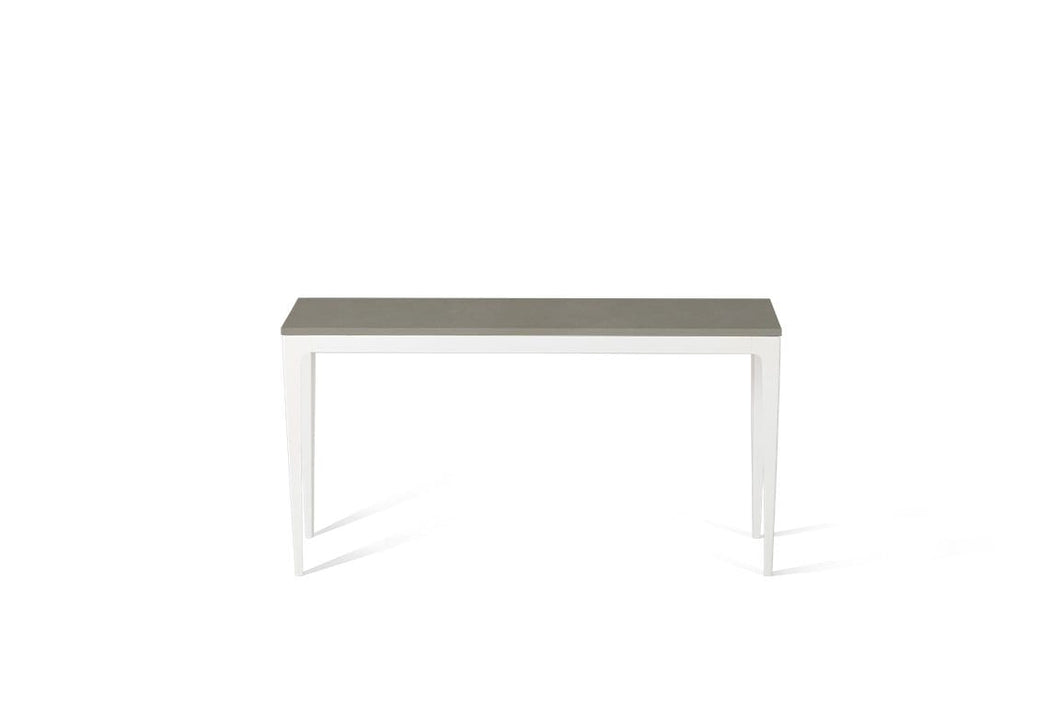 Sleek Concrete Slim Console Table Oyster