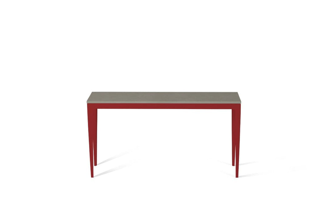 Sleek Concrete Slim Console Table Flame Red