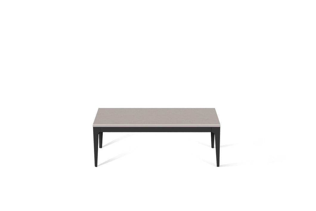 Raw Concrete Coffee Table Matte Black