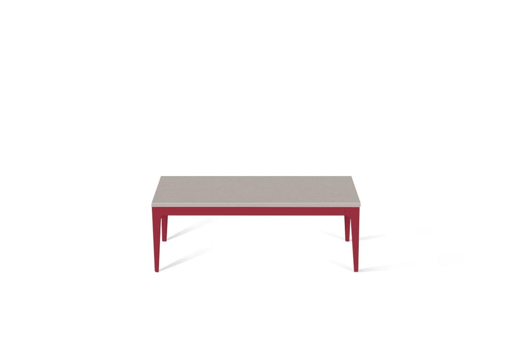 Raw Concrete Coffee Table Flame Red