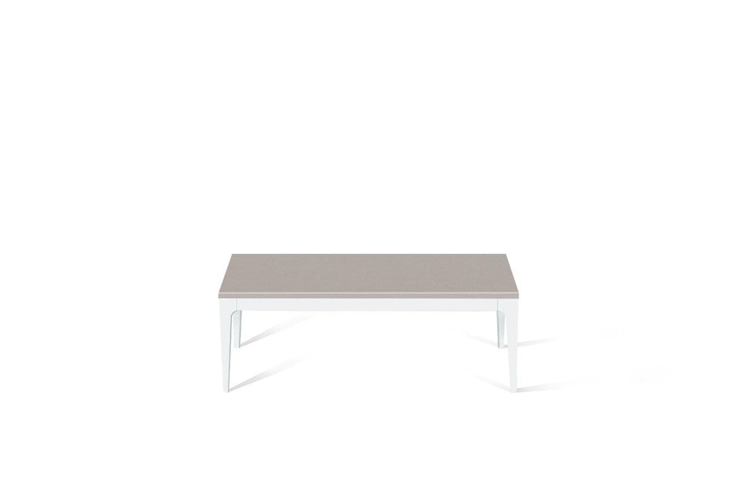 Raw Concrete Coffee Table Pearl White