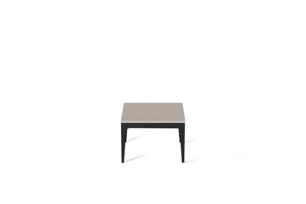 Raw Concrete Cube Side Table Matte Black