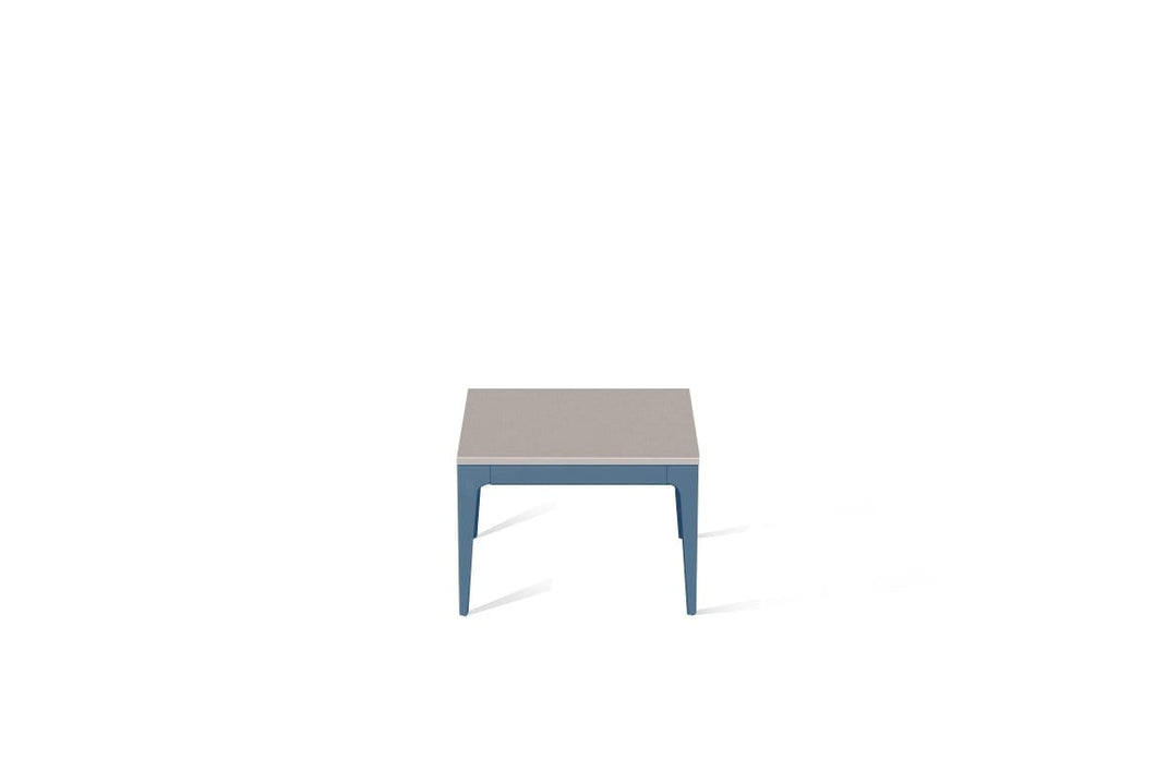Raw Concrete Cube Side Table Wedgewood