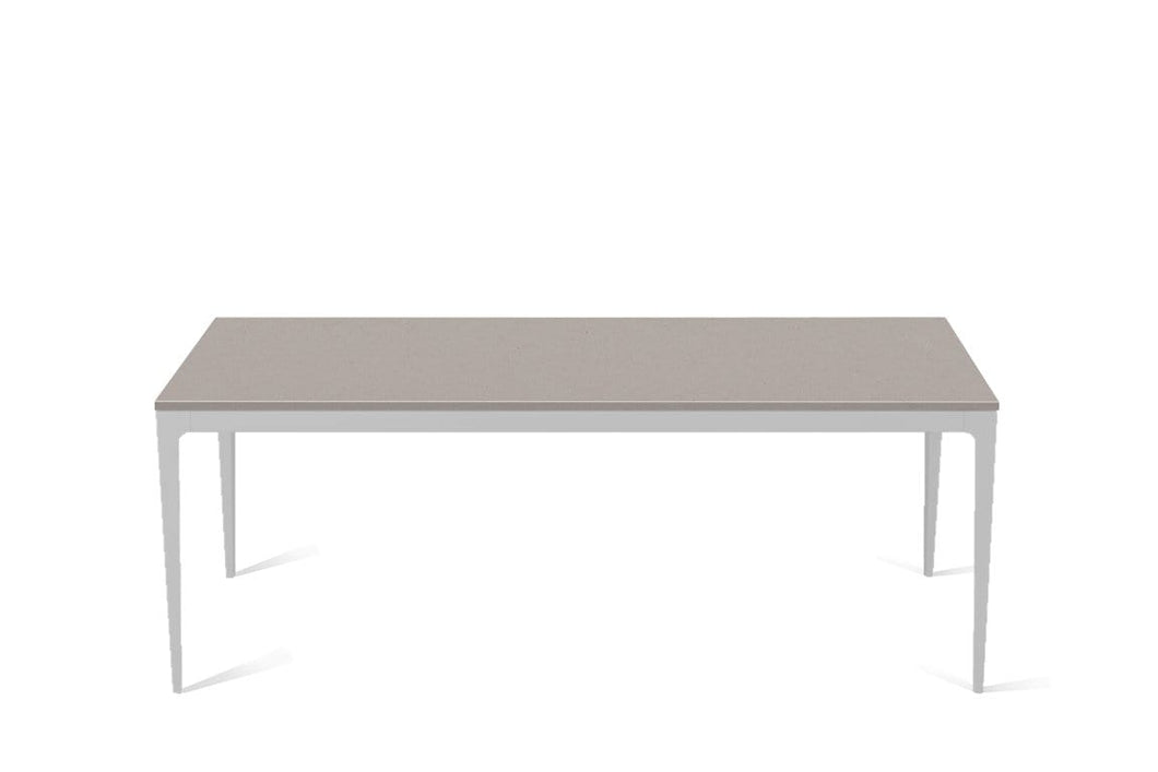 Raw Concrete Long Dining Table Oyster