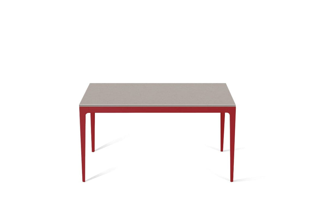 Raw Concrete Standard Dining Table Flame Red
