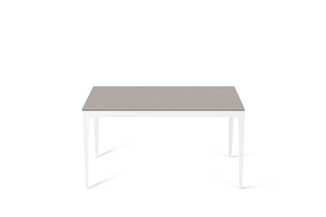 Raw Concrete Standard Dining Table Pearl White