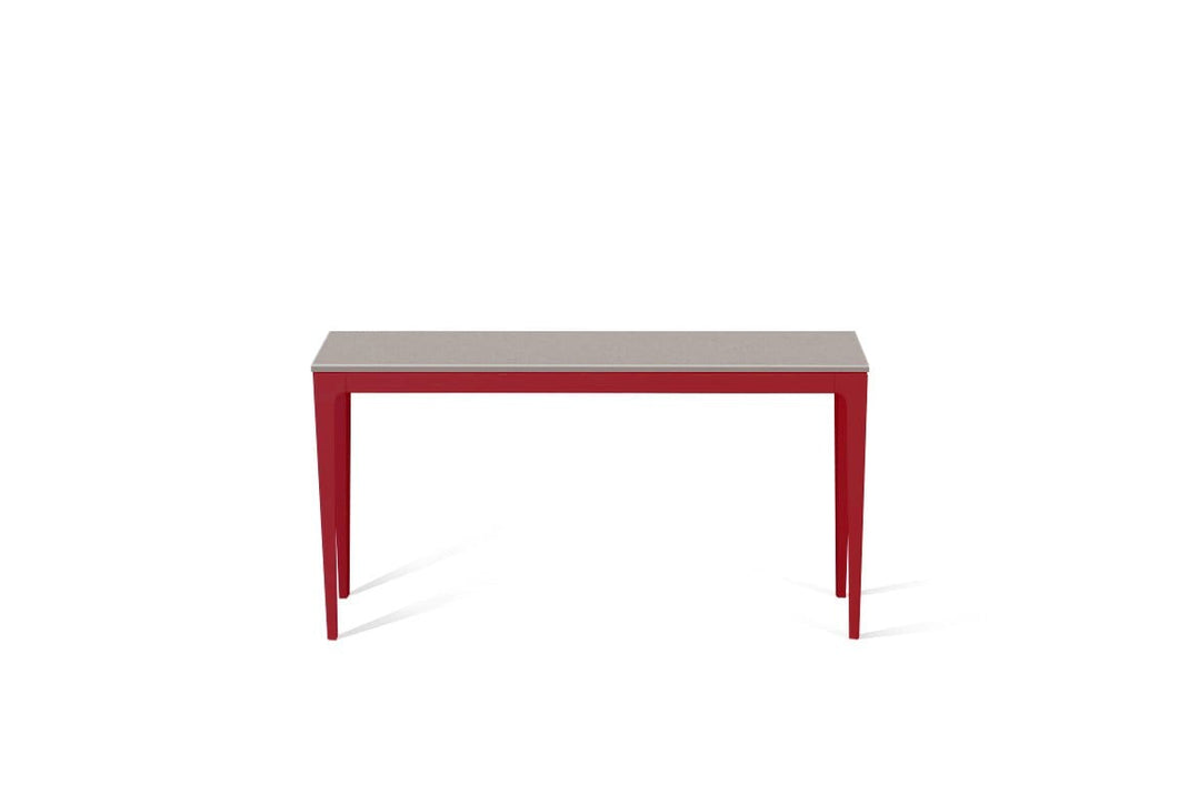Raw Concrete Slim Console Table Flame Red