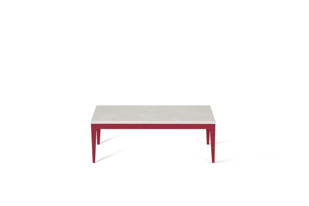 Cloudburst Concrete Coffee Table Flame Red