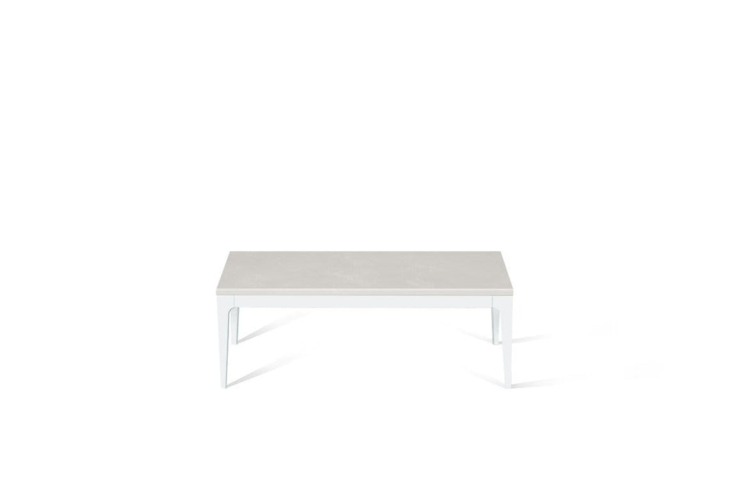 Cloudburst Concrete Coffee Table Pearl White