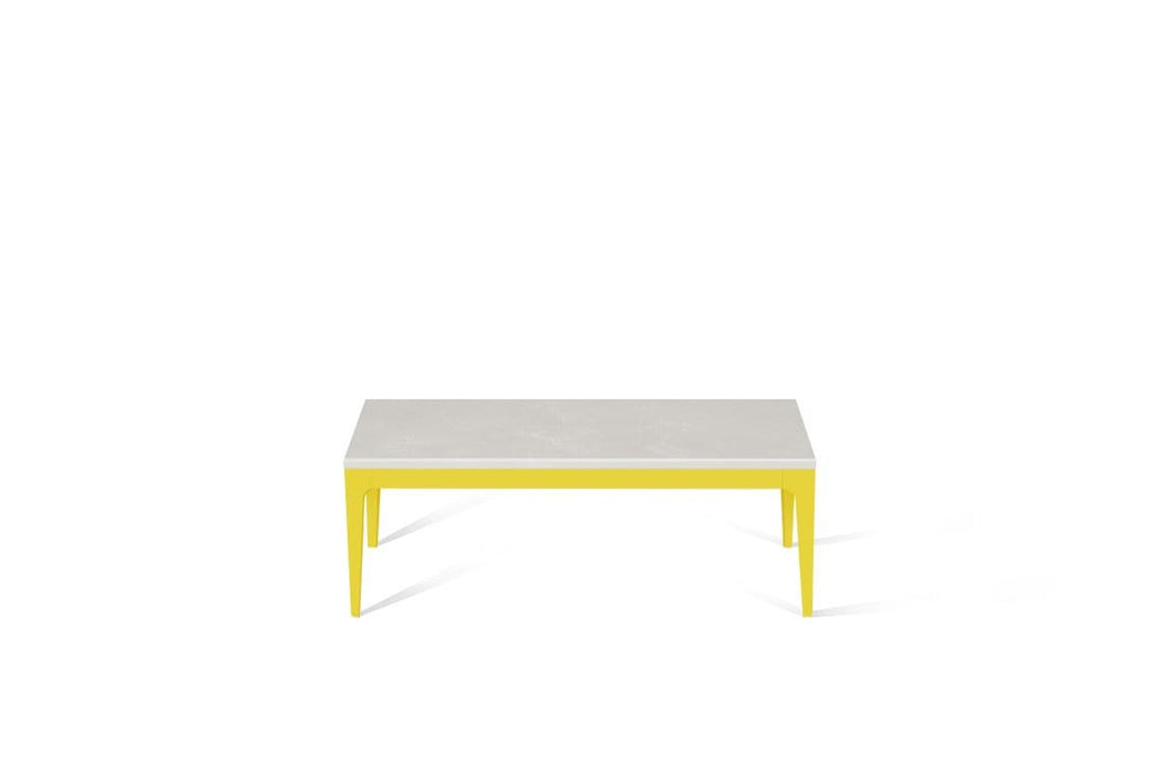Cloudburst Concrete Coffee Table Lemon Yellow