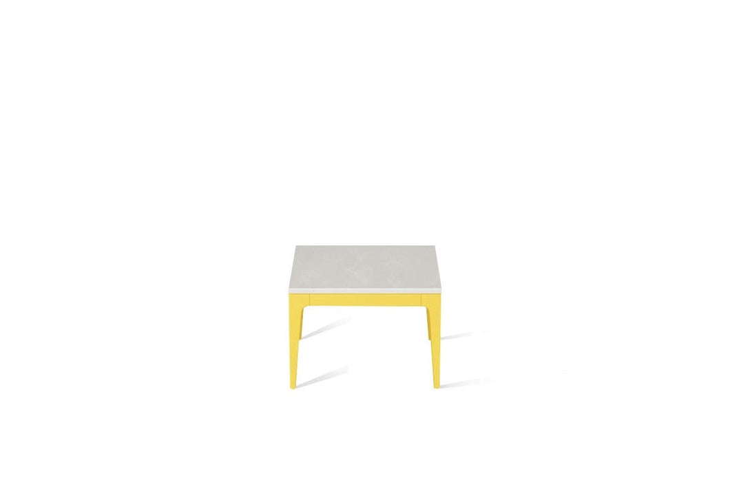 Cloudburst Concrete Cube Side Table Lemon Yellow