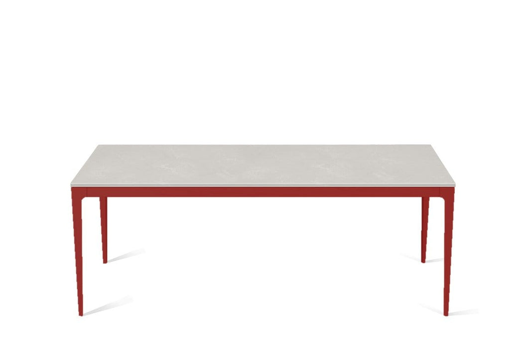 Cloudburst Concrete Long Dining Table Flame Red