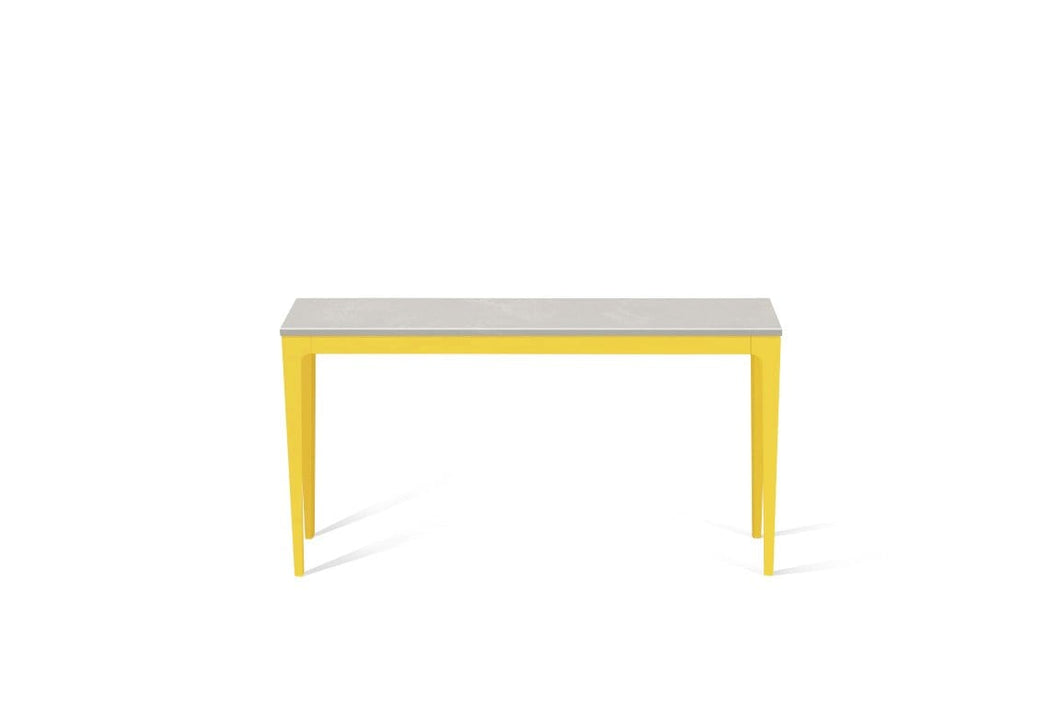 Cloudburst Concrete Slim Console Table Lemon Yellow