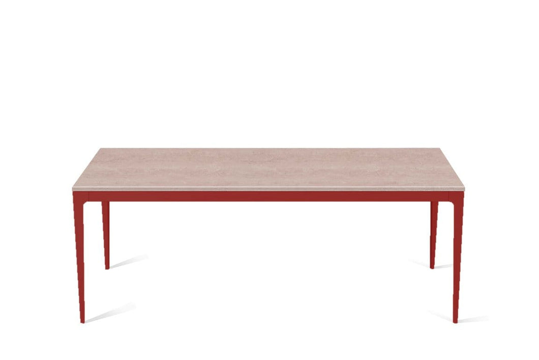 Topus Concrete Long Dining Table Flame Red