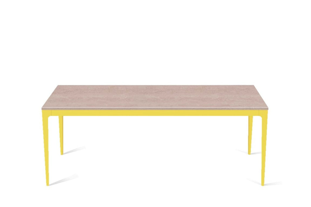 Topus Concrete Long Dining Table Lemon Yellow